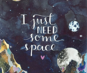 space, quote, and art image