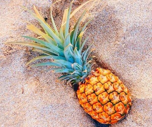 pineapple, summer, and beach image
