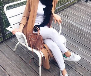 hijab, adidas, and outfit image