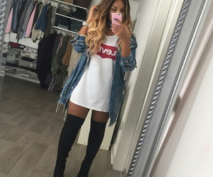 beautiful, boots, and hair image