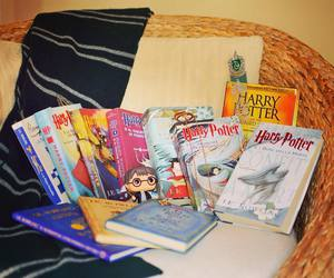 books, harry potter, and slytherin image