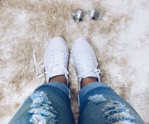 fashion, jeans, and sneaker image