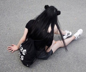 black, grunge, and adidas image