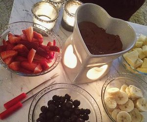 berries, chocolate, and cozy image