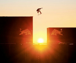 skate, skater, and sunset image