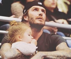 David Beckham, kids, and cute image