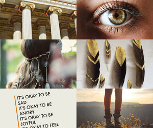 aesthetic, yellow, and percy jackson image