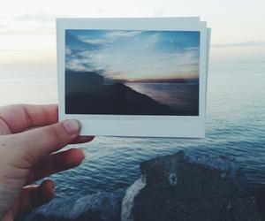 beach, polaroid, and sea image
