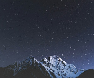 mountains, space, and sky image