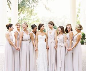bride, bridesmaids, and drinks image