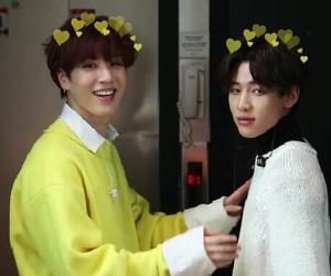 korean boys, kpop hearts, and bambam image