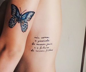 butterfly, tatto, and tattoo image