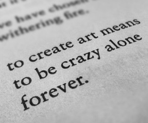 art, quotes, and alone image