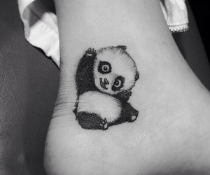 panda, cute, and tattoo image