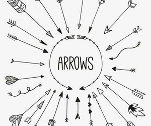 arrow, inspiration, and doodle image