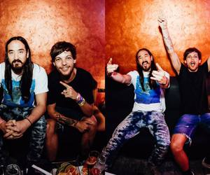louis tomlinson, steve aoki, and 1d image