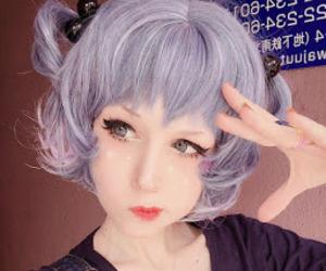 kawaii, purple, and pastel image