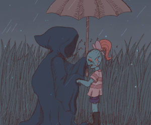undertale, undyne, and riverperson image