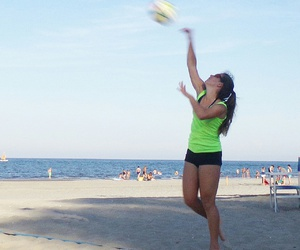beach, sea, and volley image