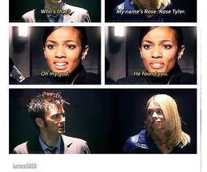 billie piper, david tennant, and rose tyler image