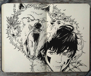 gabriel picolo, gabriel picolo's art, and mononoke hime perfection image
