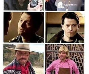 funny, supernatural, and castiel image
