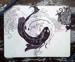 fish, draw, and drawing image