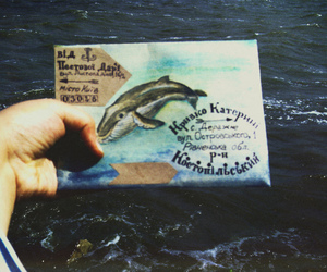 envelope, Letter, and sea image