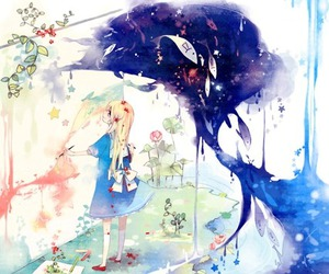 anime, art, and paint image