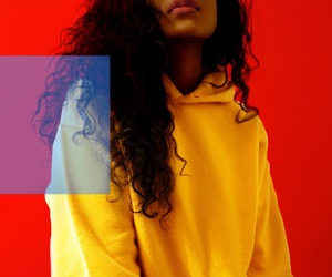 yellow, beauty, and curly hair image