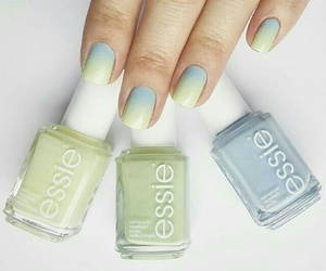 nails, essie, and ombre image