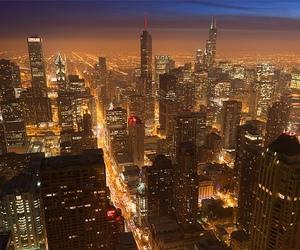 city, skyscraper, and night image