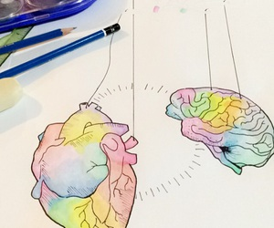 art, artistic, and brain image