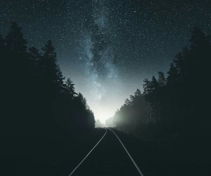 galaxy, light, and nature image