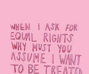 equal, feminist, and pink image