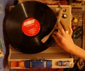 music, vintage, and gif image
