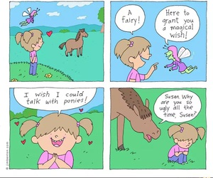 pony, funny, and fairy image