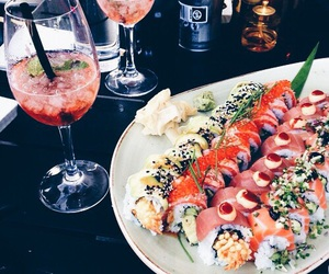 sushi, food, and drink image