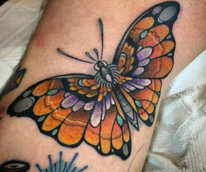 beautiful, tattoo, and butterfly image