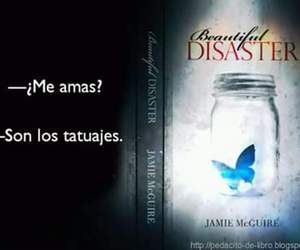book, beautiful disaster, and frase image