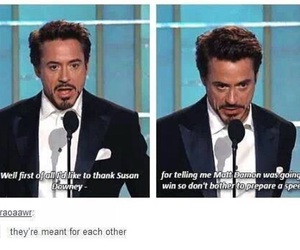 funny, robert downey jr, and susan downey image