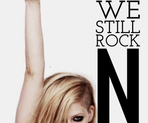 Avril Lavigne, easel, and Lyrics image