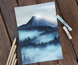 art, drawing, and nature image