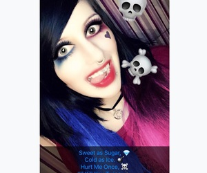 cosplay, gothic, and harley quinn image
