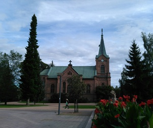 church, finland, and park image