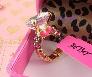 ring, pink, and diamond image