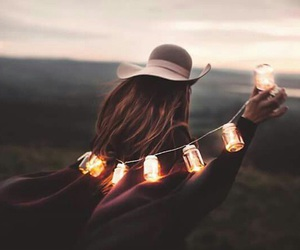 light, girl, and autumn image