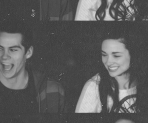 crystal reed, stiles, and dylan o'brien image