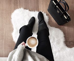 boots, fashion, and knit image