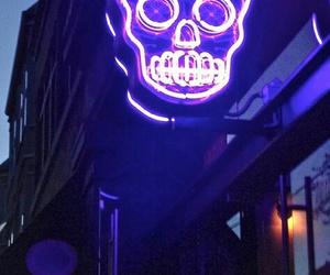 skull, neon, and light image